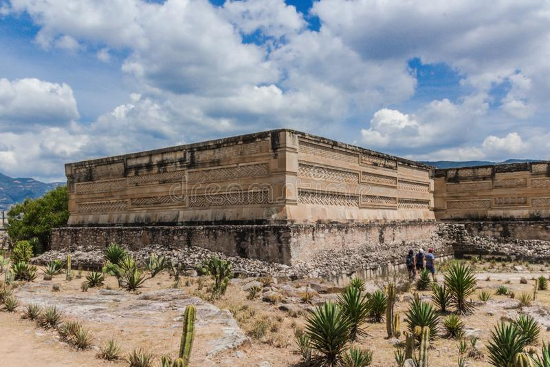 Ruins of Mitla in Oaxaca Mexico. Oaxaca, Oaxaca / Mexico - 21/7/2018: Detail of the ruins of prehispanic Mitla in Oaxaca Mexico stock images