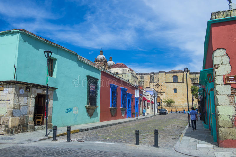 Oaxaca , Mexico. NOV 02 : Street view in Oaxaca Mexico on November 02 2015. Oaxaca, is the capital and largest city of the Mexican state of the same name royalty free stock photography