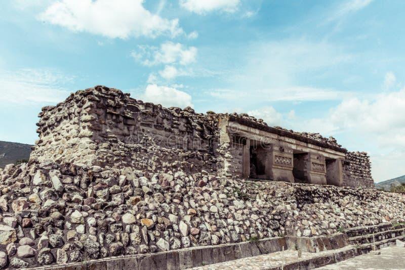 Ruins of Mitla in Oaxaca Mexico. Oaxaca, Oaxaca / Mexico - 21/7/2018: Detail of the ruins of prehispanic Mitla in Oaxaca Mexico stock photo