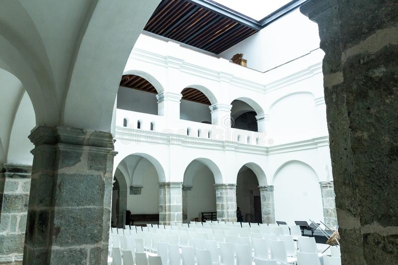 Detail of San Pablo Cultural center in Oaxaca Mexico. Oaxaca, Oaxaca / Mexico - 21/7/2018: Detail of San Pablo Cultural center in Oaxaca Mexico stock images