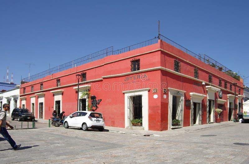 Oaxaca-Straße lizenzfreie stockfotografie