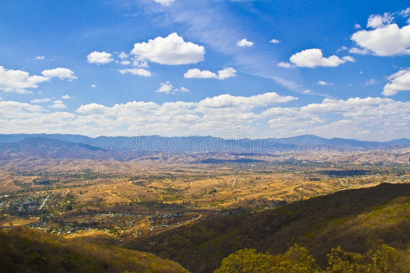 Oaxaca view from Monte Alban. Oaxaca city view from Monte Alban royalty free stock image
