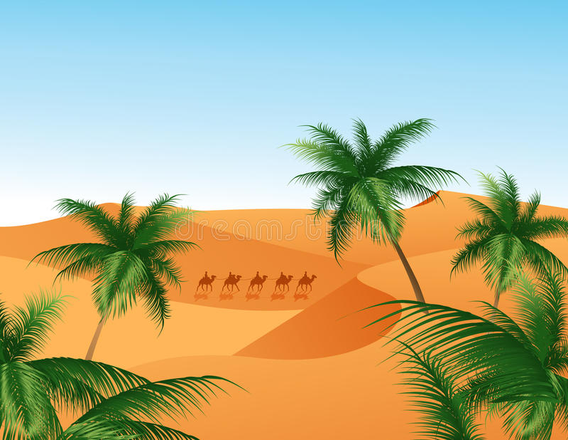 oaza royalty ilustracja