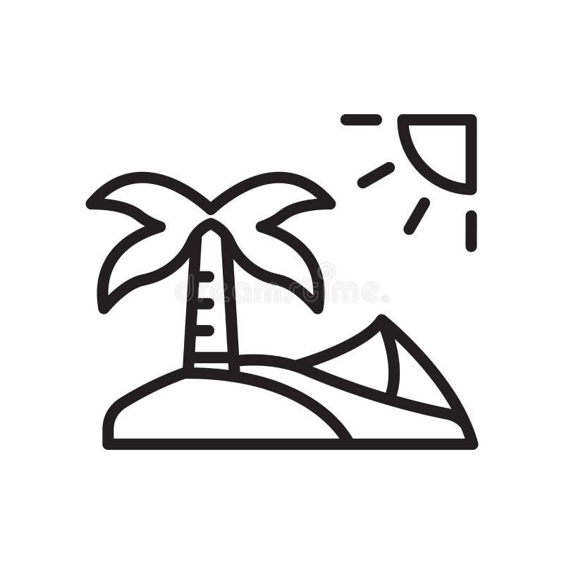 Oazy ikony wektoru znak i symbol odizolowywający na białym tle royalty ilustracja