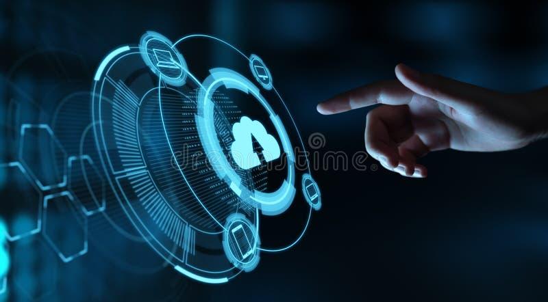 Obłoczny Oblicza technologii sieci Internetowy Składowy pojęcie obraz stock