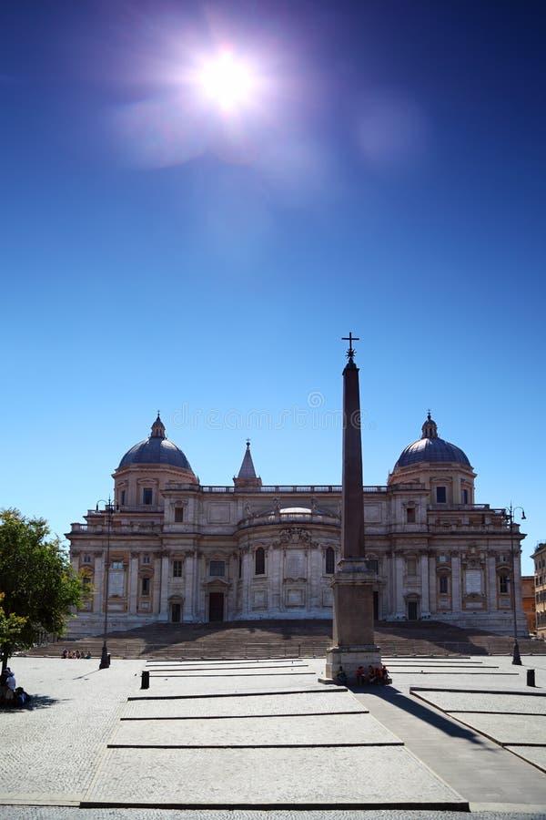Obélisque de basilique Santa Maria Maggiore à Rome photo libre de droits