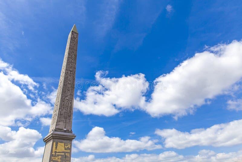 Obélisque de Louxor chez Place de la Concorde à Paris photo libre de droits