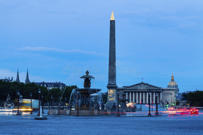 Obélisque de Louxor sur Place de la Concorde à Paris image stock