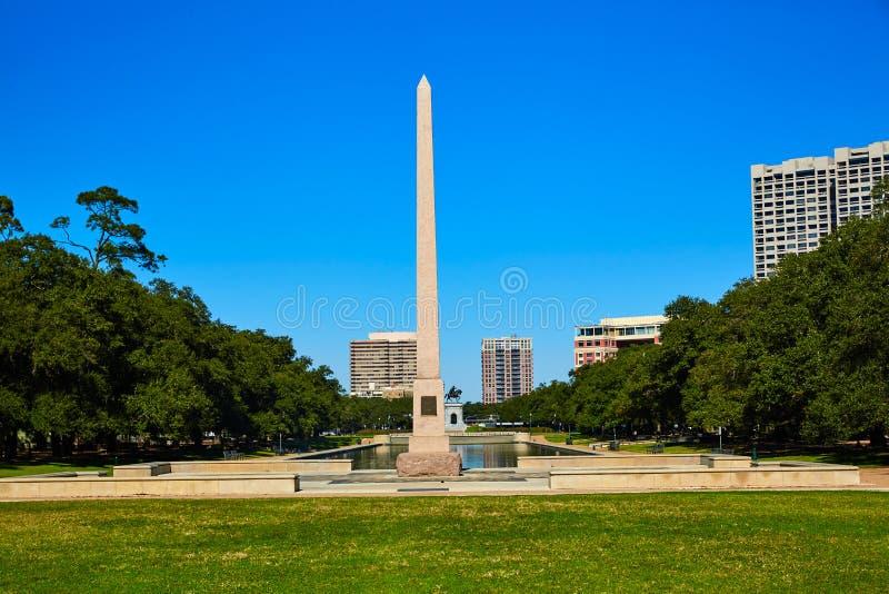 Obélisque de mémorial de pionnier de parc de Houston Hermann photos libres de droits