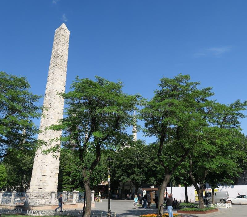 Obélisque de Theodosian d'Egypte, chez le Hippodrom de Constantinople à Istanbul, la Turquie photo libre de droits