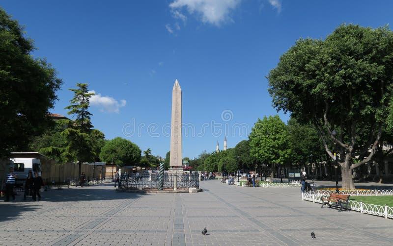 Obélisque de Theodosian d'Egypte, chez le Hippodrom de Constantinople à Istanbul, la Turquie photo stock