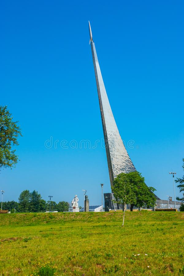 Obélisque titanique aux conquérants de l'espace, Moscou photo libre de droits