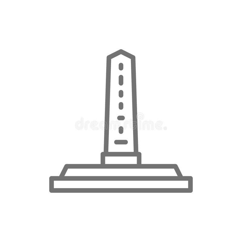 Obélisques égyptiens, ligne de colonne antique icône illustration libre de droits