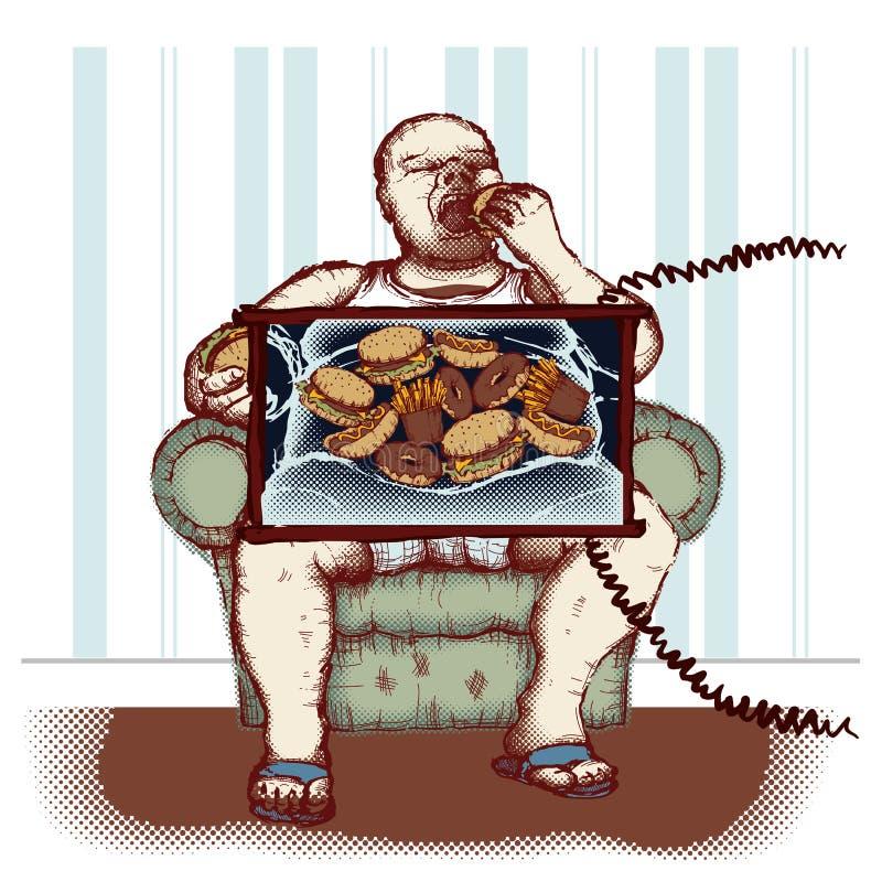 Obésité illustration libre de droits