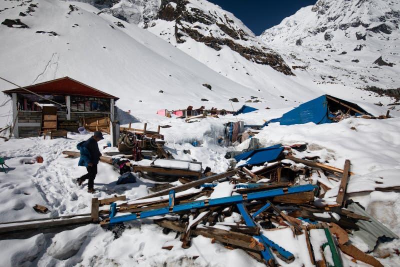 Obóz bazowy Annapurna obrazy royalty free
