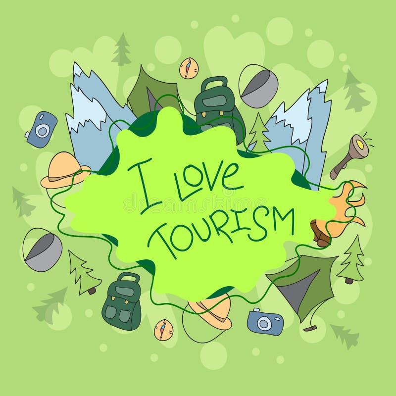 Obóz letni - doodles elementy ilustracja wektor