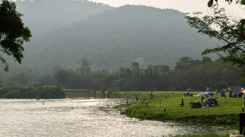 Obóz w Parku Narodowym Kaeng Krachan obrazy royalty free