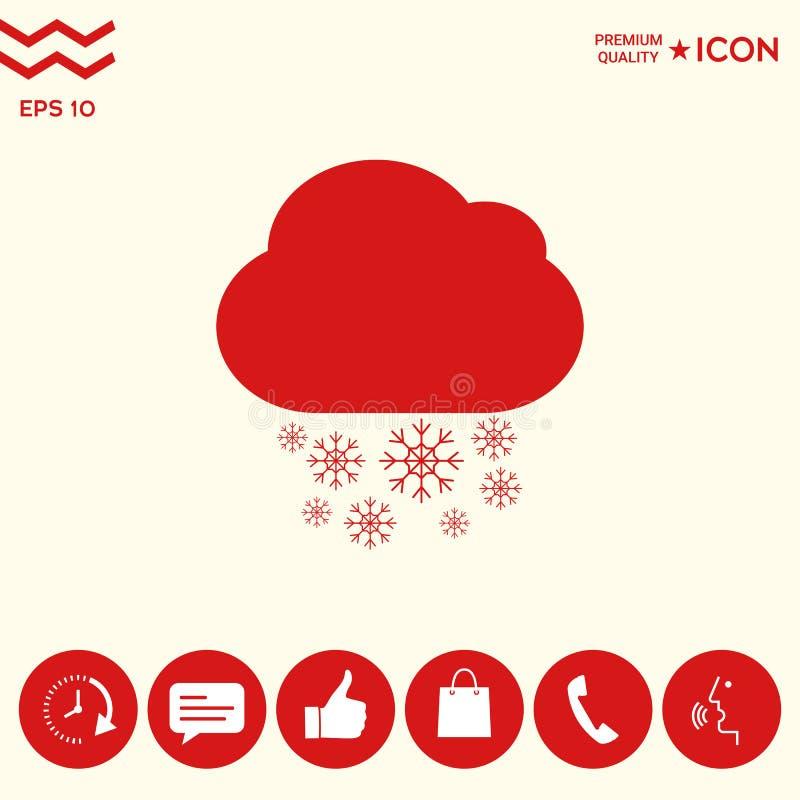Obłoczna śnieżna ikona royalty ilustracja