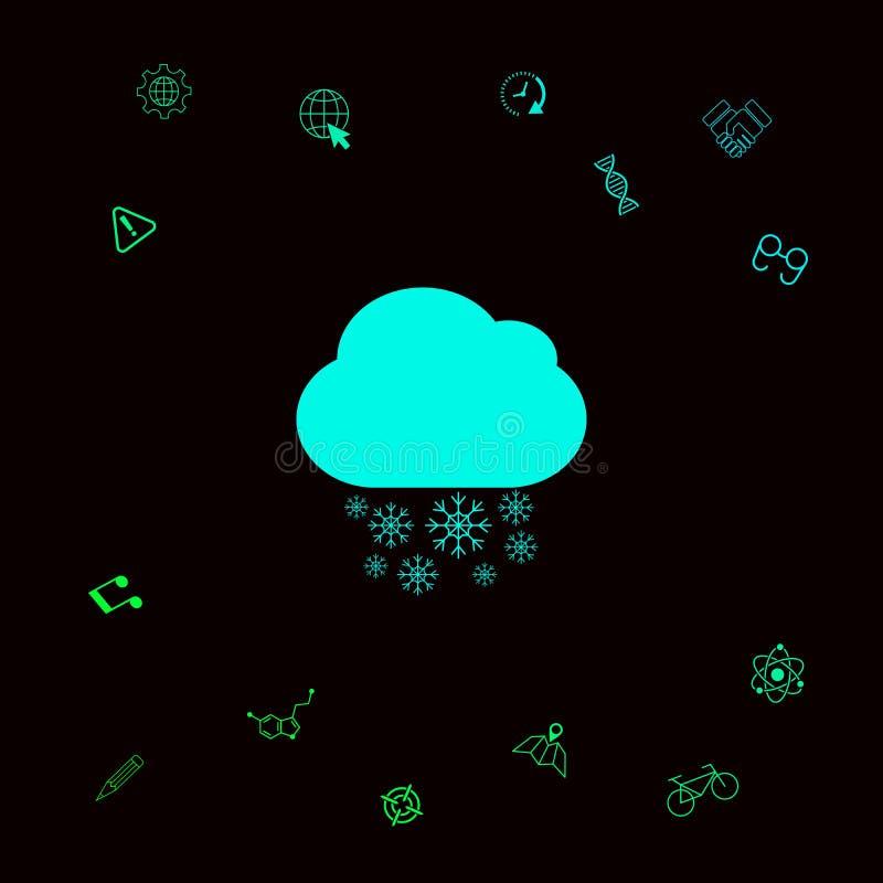 Obłoczna śnieżna ikona ilustracji