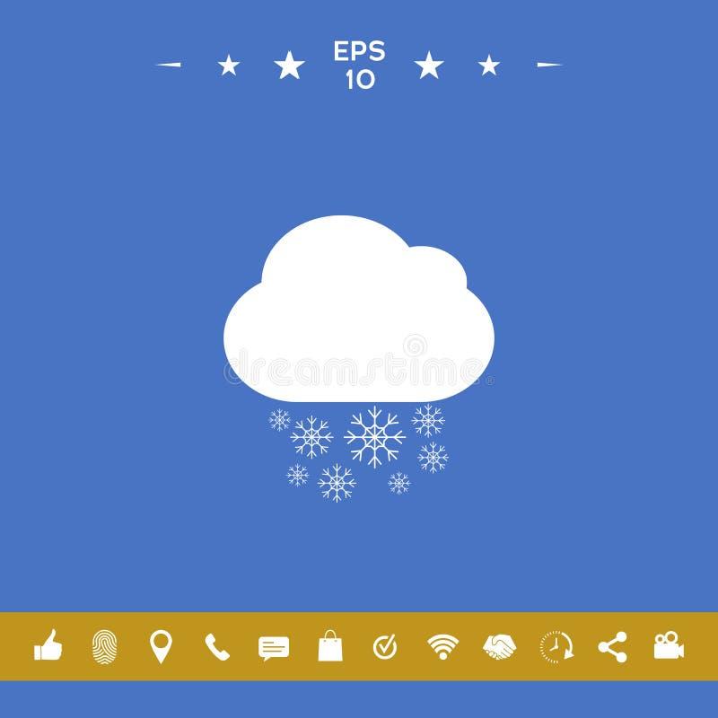 Obłoczna śnieżna ikona ilustracja wektor