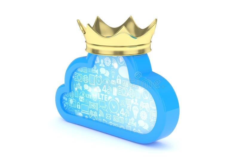 obłoczna błękit ikona świadczenia 3 d royalty ilustracja