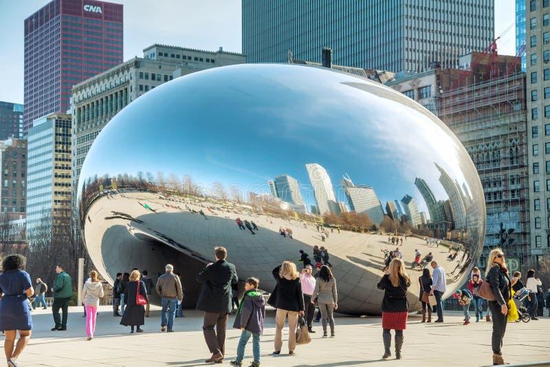 Obłoczna bramy rzeźba w milenium parku zdjęcia stock