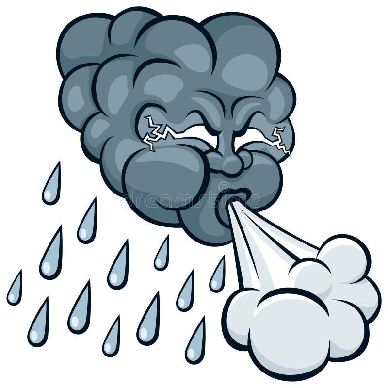 obłoczna burza royalty ilustracja