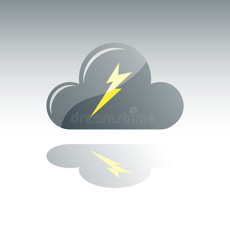 obłoczna burza ilustracji
