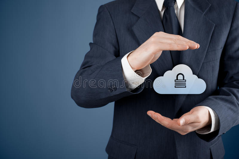 Obłoczna dane ochrona zdjęcie stock