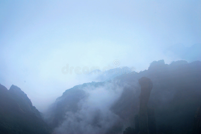 obłoczna mgła zdjęcie stock