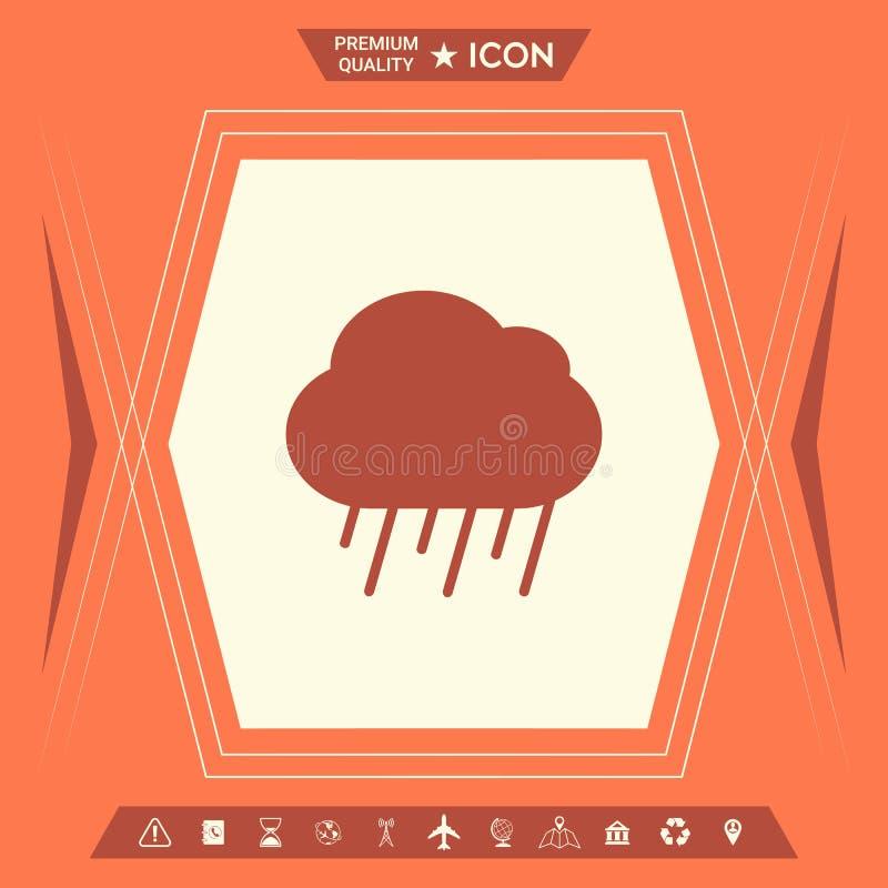 Obłoczna podeszczowa ikona royalty ilustracja