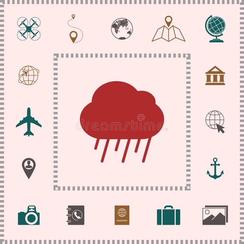 Obłoczna podeszczowa ikona ilustracja wektor