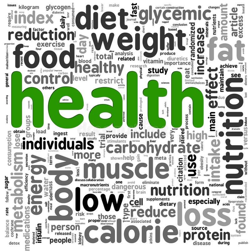 obłoczna pojęcia zdrowie etykietka ilustracji