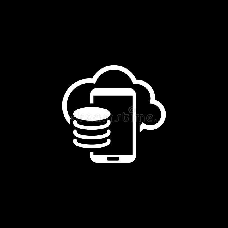 Obłoczna składowa ikona Płaski projekt ilustracja wektor