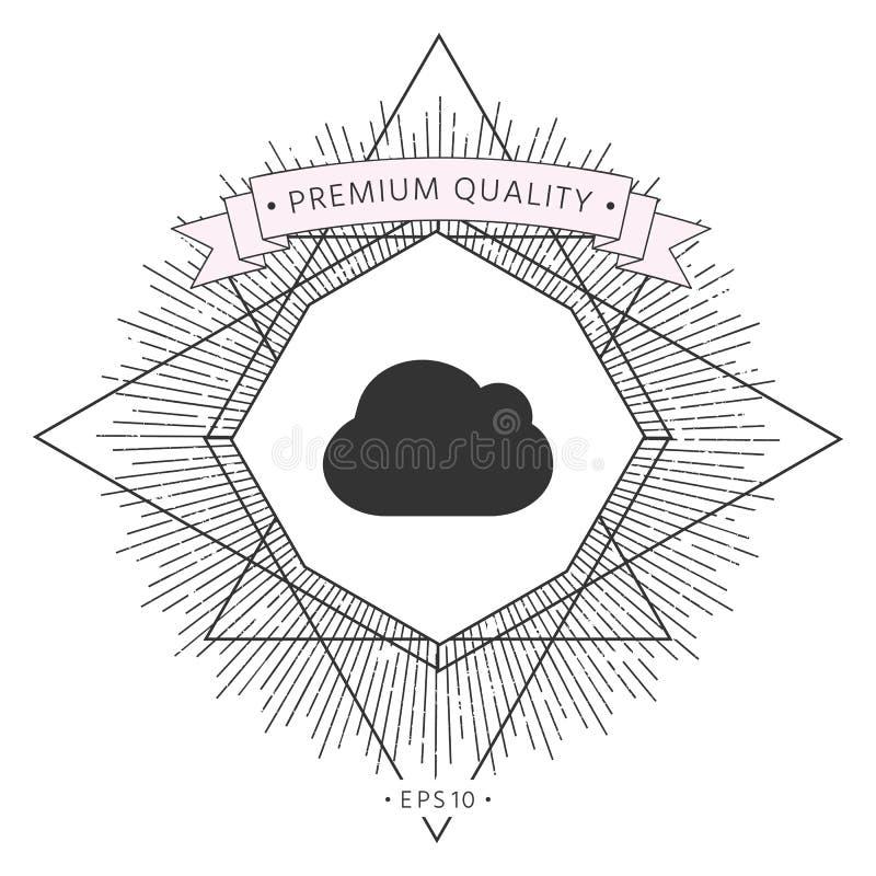 Obłoczna symbol ikona ilustracji
