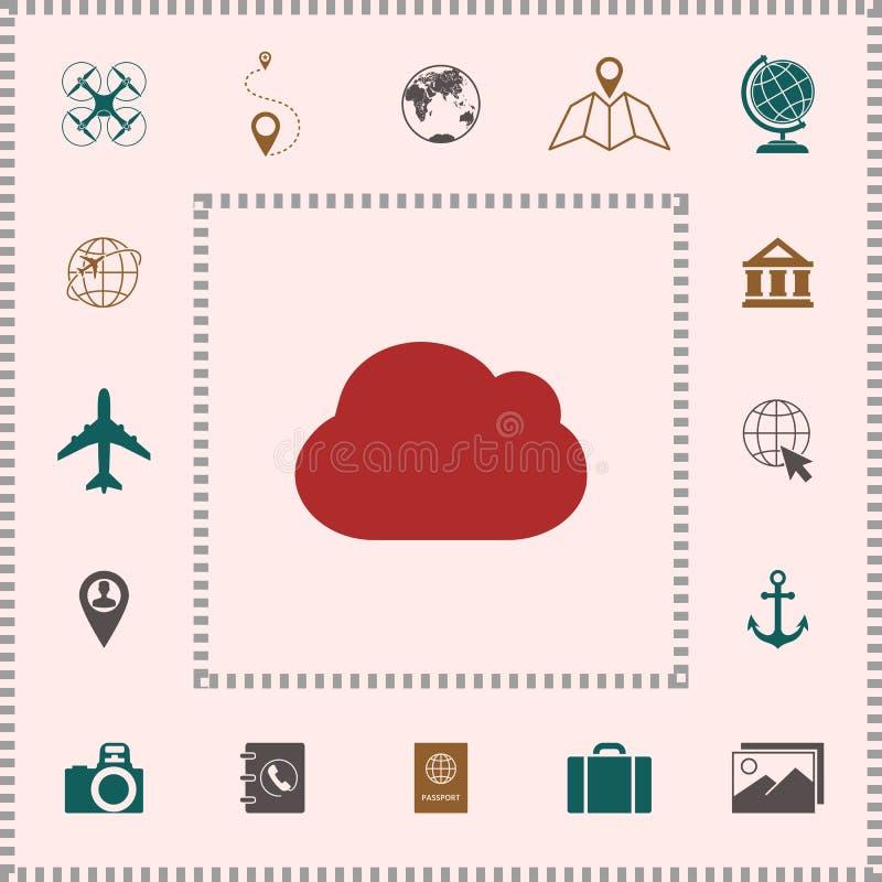 Obłoczna symbol ikona royalty ilustracja