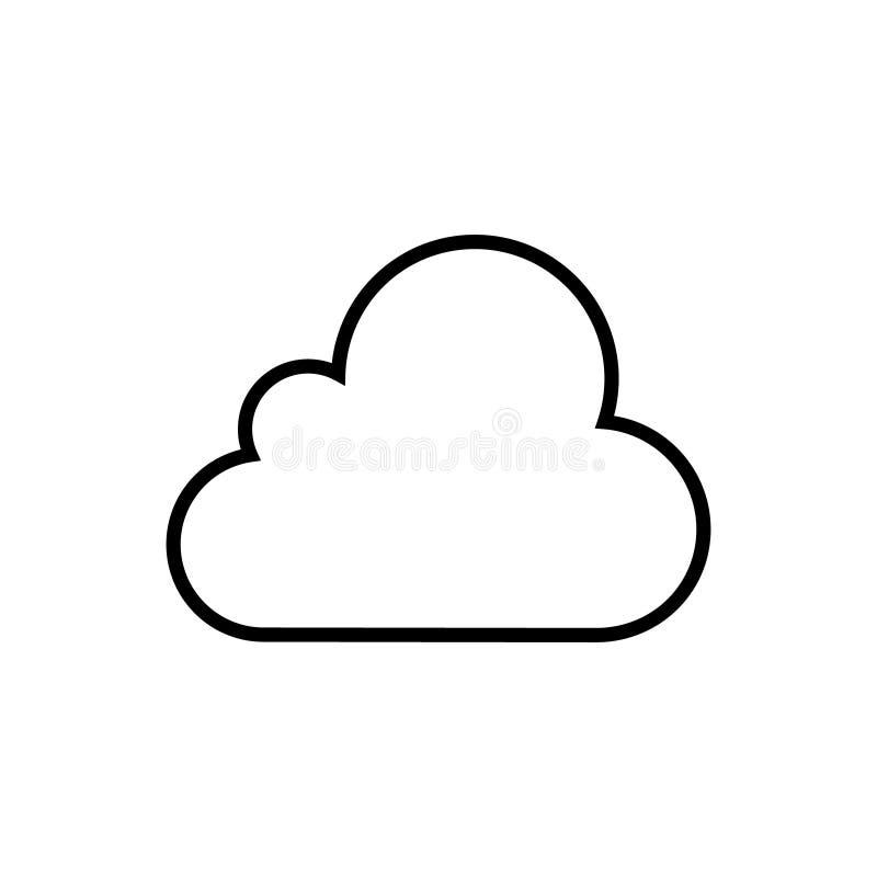 Obłoczna wektorowa ikona dla graficznego projekta, logo, strona internetowa, ogólnospołeczni środki, mobilny app, ui ilustracja ilustracja wektor