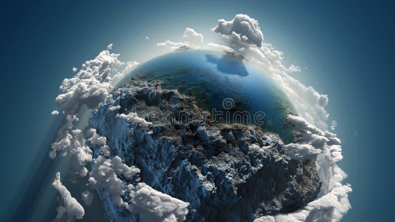 Obłoczna ziemia w przestrzeni royalty ilustracja