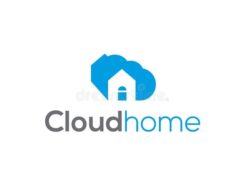 Obłocznej ikony loga projekta wektorowy szablon Kreatywnie biznesowy pojęcie: dla chmury usługa Technologia pomysłu cor komunikac royalty ilustracja
