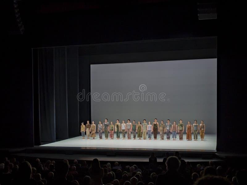 Obłoczny brama tana Theatre występ w Segerstrom sala zdjęcia royalty free