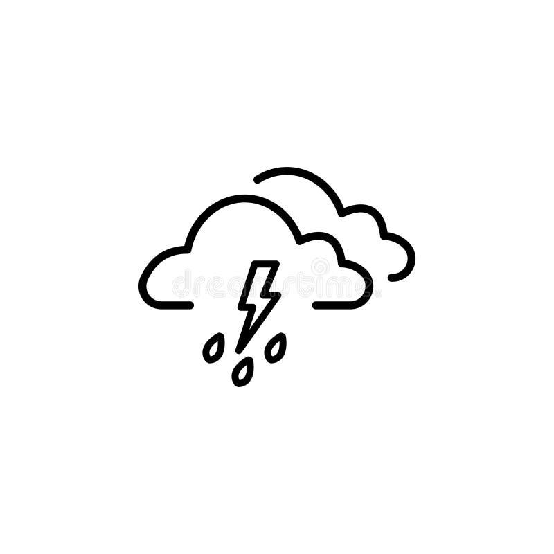 Obłoczny burzy błyskawicy deszcz royalty ilustracja