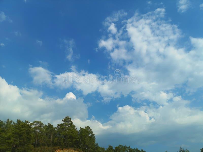 Obłoczny cumulus od wysokości samolotowy lot atmosfery pogoda zdjęcie royalty free