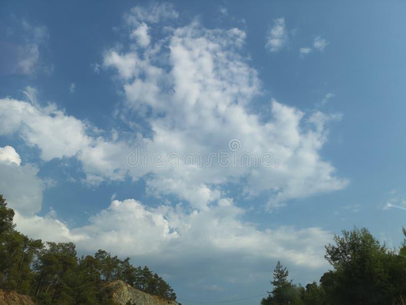 Obłoczny cumulus od wysokości samolotowy lot atmosfery pogoda obrazy stock