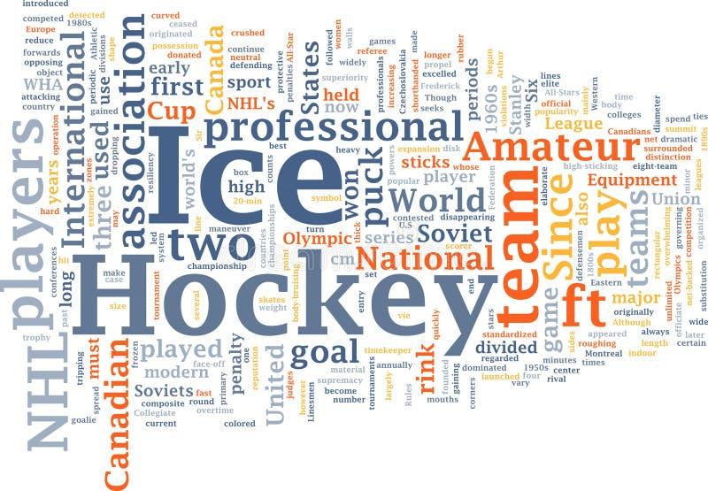 obłoczny hokeja lodu słowo royalty ilustracja