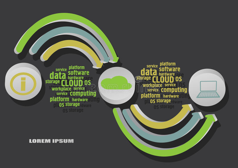 Obłoczny infographics ilustracja wektor
