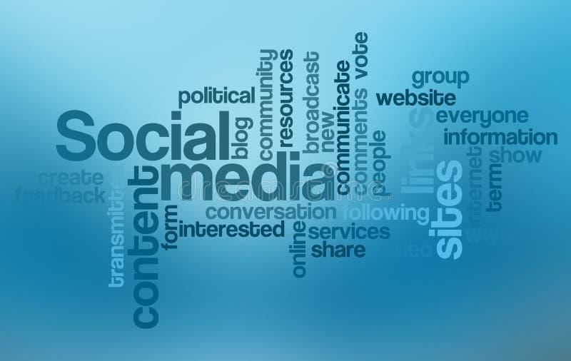 obłoczny medialny ogólnospołeczny słowo royalty ilustracja