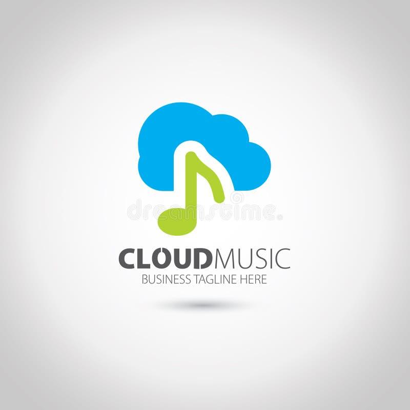 Obłoczny Muzyczny logo obraz stock