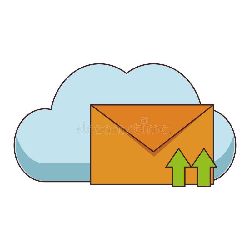 Obłoczny obliczać i email ilustracji