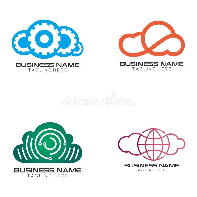 Obłoczny rozwiązanie logo projekt i ikona ilustracja wektor