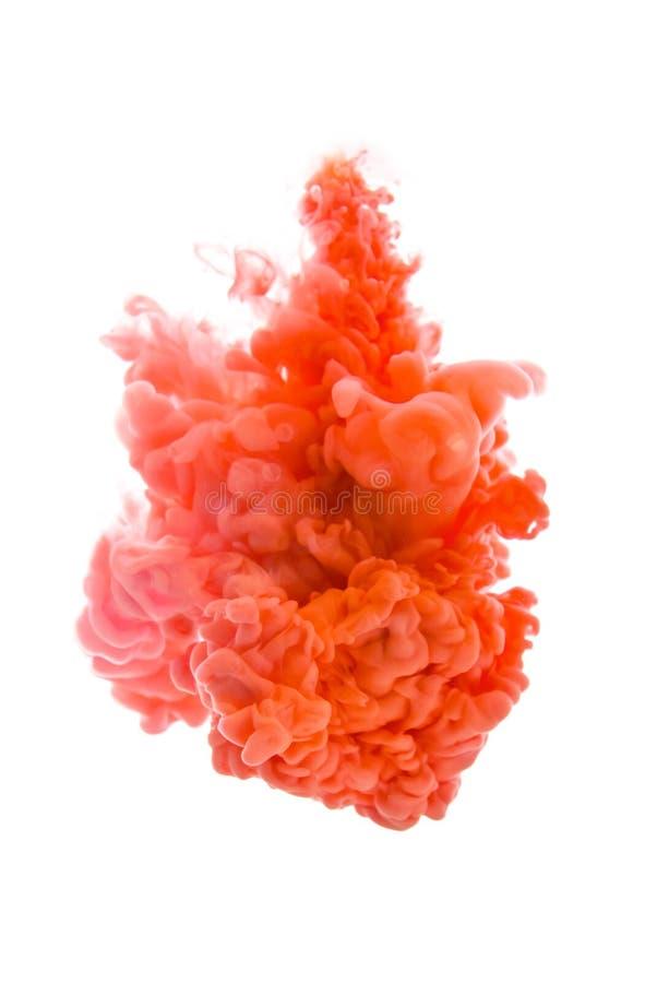 obłoczny wybuchu farby pigment fotografia stock